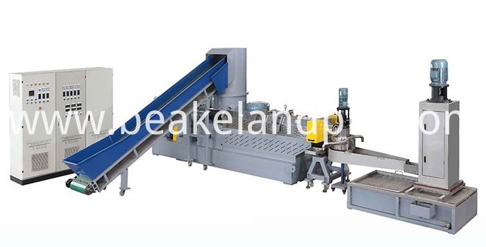 PP woven bag granulating machine